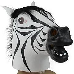 cabeça zebra máscara de látex para a festa a fantasia do dia das bruxas (1 pc)
