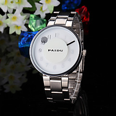 Men's Watch Dress Watch Creative Pointer Steel Band Cool Watch Unique Watch