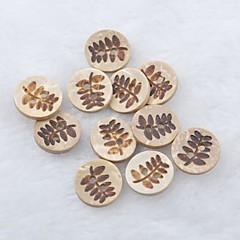 blad mønster scrapbog scraft syning diy kokos shell knapper (10 stk)