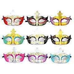 お買い得  ハロウィンメイク Cosplay-フラッシュプラスチック材料仮装パーティーハロウィンマスク(ランダムカラー)