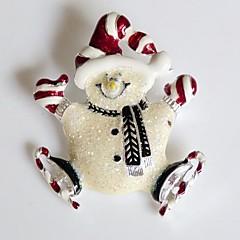 manier kerstmis vrolijke sneeuwpop legering broche