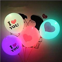 Coway valentin nap világítás léggömb szeretlek LED világító léggömb óriás szív (véletlenszerű szín)