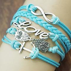 preiswerte Armbänder-Damen Mehrschichtig Wickelarmbänder - Eule, Liebe, Anker Europäisch, Modisch, Mehrlagig Armbänder Blau Für Alltag Normal