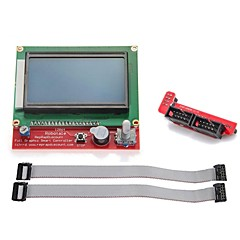 abordables Pantallas-ramps1.4 LCD12864 controlador inteligente
