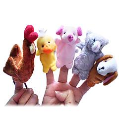 Pacynka na palec Kura Kaczka Psy Świnka Kreskówka Słodkie Nowoczesne zabawki Dla chłopców Dla dziewczynek Tkanina