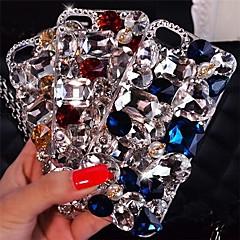 леди блестящие роскошные модели с алмазным трудно задней крышки для Iphone 4 / 4s (разных цветов)