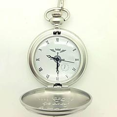 Saat/Kol Saati Esinlenen Fullmetal Alchemist Edward Elric Anime Cosplay Aksesuarları Saat/Kol Saati Gümüş Alaşım Erkek