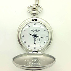Reloj Inspirado por Fullmetal Alchemist Edward Elric Animé Accesorios de Cosplay Reloj Plata Aleación Hombre