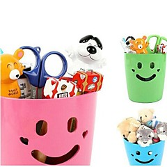 Plastic Smile Multifunctional Container Storage Boxes  (Random Color)