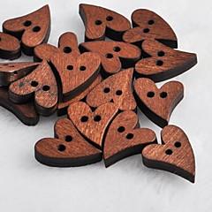 sydämen muotoinen leikekirja scraft ompelu DIY puinen painikkeet (10 kpl)