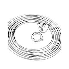 Жен. Ожерелья-цепочки Змея Стерлинговое серебро Классика бижутерия Бижутерия Назначение Для вечеринок Повседневные