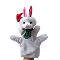Weihnachten Schnee Kaninchen großen Handpuppen Spielzeug