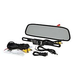 """お買い得  車載モニター-4.3 """"TFT液晶モニターカーリアビューシステムのバックアップリバースカメラキットナイトビジョン"""