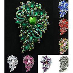 お買い得  ブローチ-女性のパーティーのためにゴージャスなラインストーンのドロップ花の花のブローチブローチピン(もっと色)