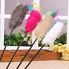 Juguete para Gato Juguetes para Mascotas Rompe Cabezas Juguetes con Plumas Barra Textil