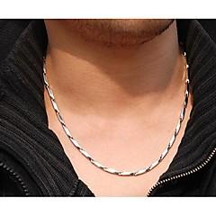 voordelige -Roestvast staal Kettingen  -  Geometrische vorm Zilver Kettingen Voor Bruiloft Feest Dagelijks
