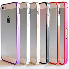 cheap Under $1.99-Case For iPhone 5 Apple iPhone 5 Case Shockproof Ultra-thin Bumper Solid Color Hard Metal for iPhone SE/5s iPhone 5