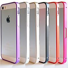 Недорогие Кейсы для iPhone 5-Кейс для Назначение iPhone 5 Apple Кейс для iPhone 5 Защита от удара Ультратонкий Бампер Сплошной цвет Твердый Металл для iPhone SE/5s