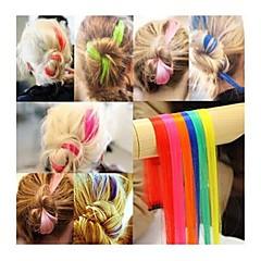 1pc punk fluorecent kleuren haarstuk / perm&cut haalbaar