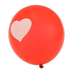 abordables globos-tamaño extra grande rojos gruesos globos redondos corazón - conjunto de 24
