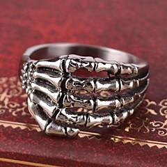abordables Anillos-Hombre Anillo / Anillo de declaración - Personalizado / Vintage / Casual Plata anillo Para Diario