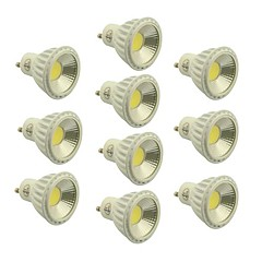 abordables LED e Iluminación-5W GU10 Focos LED 1 COB 400-450 lm Blanco Cálido / Blanco Fresco / Blanco Natural Regulable AC 100-240 / AC 110-130 V 10 piezas