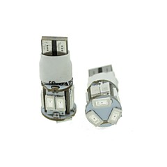 economico -T10 LED 2-mode rosso 5w 11x5630smd 550lm per la luce freno auto (DC12-16V)