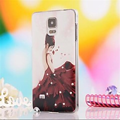 halpa Galaxy Note 4 kotelot / kuoret-Etui Käyttötarkoitus Samsung Galaxy Samsung Galaxy Note Paljetti Kuvio Takakuori Sexy Lady PC varten Note 4