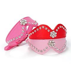 Kissat / Koirat Kaulapannat Heijastava / Tekojalokivi Punainen / Maalattu / Sininen / Pinkki / Ruusunpunainen PU Leather