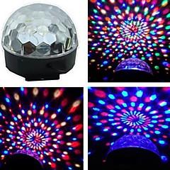 お買い得  LED アイデアライト-音声活性化rgbパーティー私たちのプラグのためのカラフルな回転スポット電球ランプを導いた