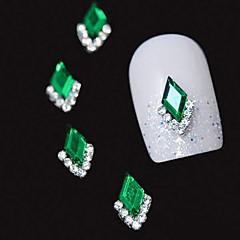 10 buc Marquise verde stras 3D DIY accesorii din aliaj de unghii arta decorativa