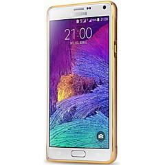 Na Samsung Galaxy Note Odporne na wstrząsy Kılıf Bumper Kılıf Jeden kolor Aluminium Samsung Note 4