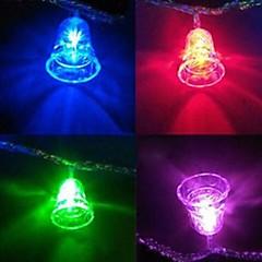 klokker 4,5m 28 ledede farverige snorlamper af høj kvalitet