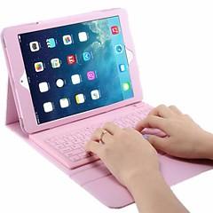 Para Carcasa Funda con Soporte con Teclado Flip Cuerpo Entero Funda Color sólido Dura Cuero Sintético para iPad Air 2 iPad Air