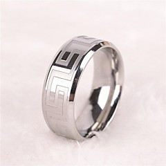 cheap -Ring Band Rings Stainless Steel Simple Style Silver Jewelry Gift 1pc