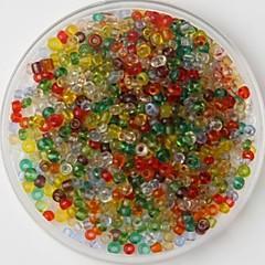 600pcs 여러 가지 빛깔의 공예 조랑말 비즈 핸드 메이드 DIY 공예 재료 / 의류 액세서리를 2mm
