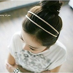 billige Hårsmykker-lureme® korea style smukke silke strikning dobbelt pandebånd (tilfældig farve)