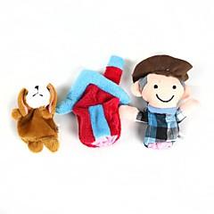 abordables Marionetas-Perros Marionetas de dedo Marionetas Bonito Encantador Novedades Dibujos Algodón Felpa Chica Regalo