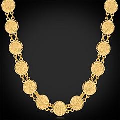 halpa Kaulakorut-Naisten Choker-kaulakorut / Kaulaketjut / Vintage kaulakoru - Platinum Plated, Gold Plated Muoti Hopea, Kultainen Kaulakorut Käyttötarkoitus Häät, Party, Erikoistilaisuus
