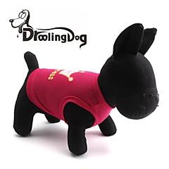 お買い得  犬用ウェア&アクセサリー-ネコ / 犬 Tシャツ 犬用ウェア ティアラ、クラウン ローズ / ピンク テリレン コスチューム ペット用