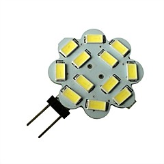 1.5W G4 LED Spotlight 12 SMD 5630 100-150lm Natural White 6000-6500K DC 12V