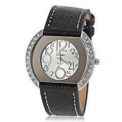 preiswerte Tolle Angebote auf Uhren-Damen Armbanduhren für den Alltag Quartz Armbanduhren für den Alltag PU Band Retro Schwarz Weiß Blau Rot