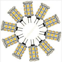 preiswerte LED-Birnen-10 Stück 2.5 W 200 lm G4 LED Doppel-Pin Leuchten 27 LED-Perlen SMD 5050 Dekorativ Warmes Weiß / Kühles Weiß 12 V / RoHs