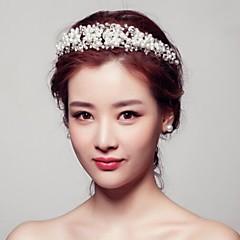 Women's Rhinestone Crystal Alloy Imitation Pearl Headpiece-Wedding Special Occasion Outdoor Wreaths