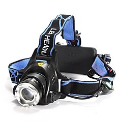 LS059 Headlamps Headlight LED 1200 lm 3 Mode Cree XM-L T6 with Batteries and Charger Zoomable Adjustable Focus Impact Resistant
