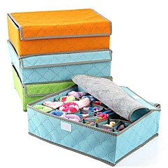Storage Boxes / Storage Baskets Textile / Carbon Fiber withFeature is Lidded , For Underwear