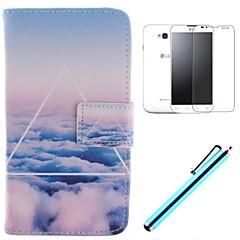 Varten LG kotelo Korttikotelo / Lomapkko / Tuella / Flip Etui Kokonaan peittävä Etui Maisema Kova Tekonahka LG LG L70