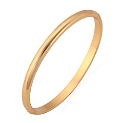 cheap Bracelets-Women's Bangles / Bracelet - Platinum Plated, Gold Plated Basic, Simple Style Bracelet Silver / Golden For Wedding / Party / Birthday