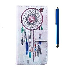 For LG Case Card Holder / Wallet / with Stand / Flip Case Full Body Case Dream Catcher Hard PU Leather LG
