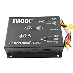 cheap Power Inverter-Xincol® Vehicle Car DC 24V to 12V 40A Power Supply Transformer Converter with Fan Regulation-Black